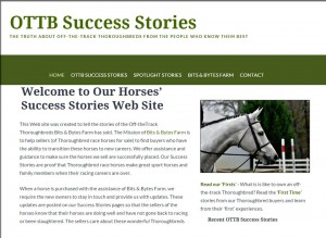 OTTB Success Stories Website