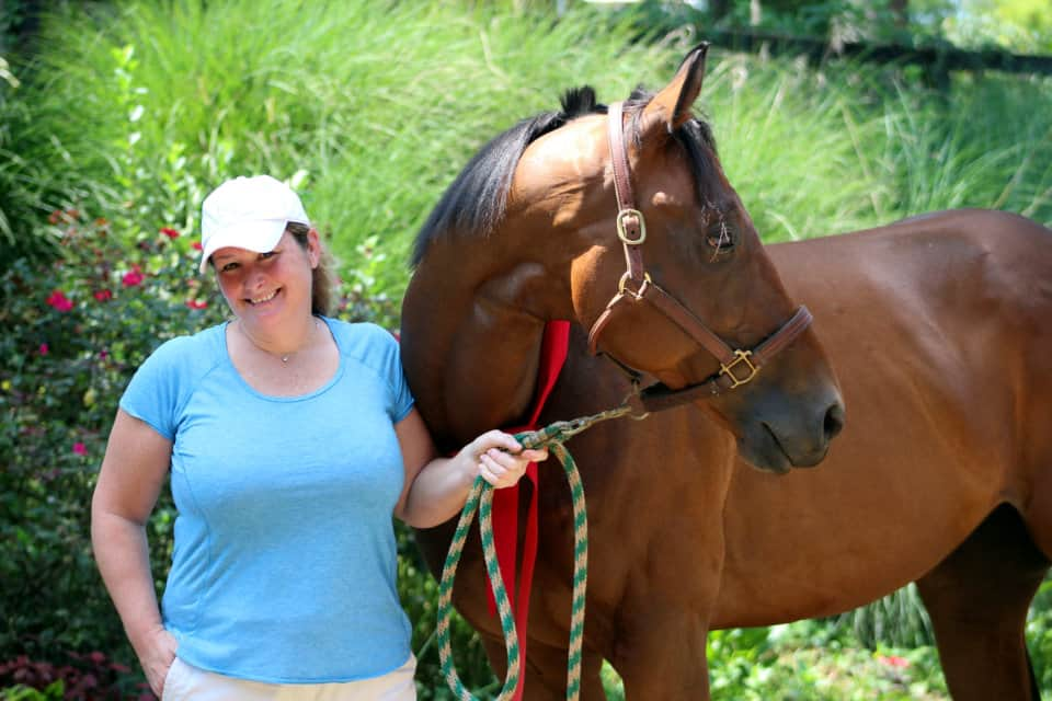 Safe Passage and his new mom Anne Michele Jamros